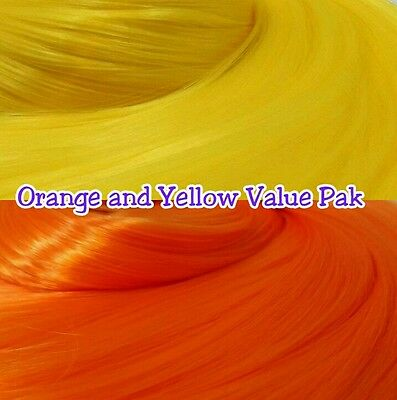 Yellow & Orange XL 2 Color Value Pack Nylon Doll Hair Rooting Monster High MLP