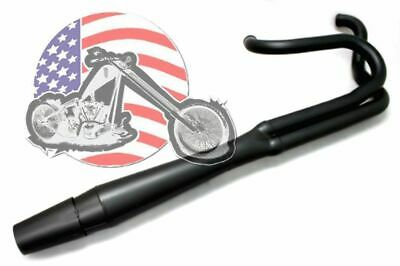 Black Thunderheader 2 into 1 Exhaust System Pipe 87-94 Harley FXR Mid Controls