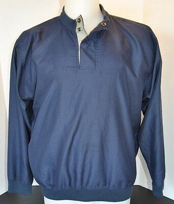 Vintage Catalina Pullover Polyester Golf Jacket Coat Mens  Size Small Navy Blue