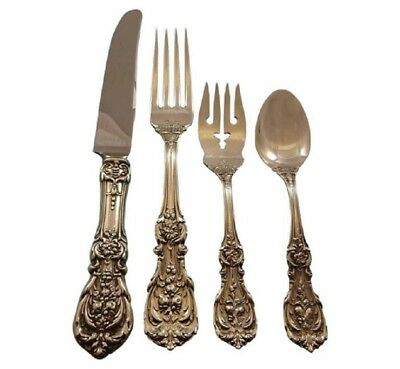 Francis I Old Reed and Barton Sterling Silver Flatware Set Service 8 Dinner