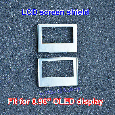 LCD Screen Shield Protective Cover iron Frame for 0.96 inch OLED display module