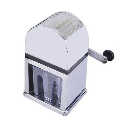 Home Bar Manual Ice Shaver Crusher ABS Stainless Steel Snow Cone Machine Maker D