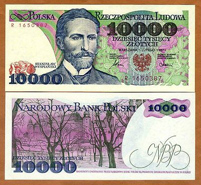 Poland, 10000 (10,000) Zlotych, 1987, P-151a, UNC