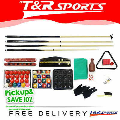 Billiards Snooker Pool Table Full Accessories Kit Package Free Delivery