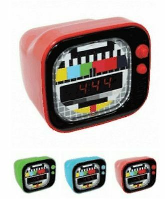 Retro Time Mini TV LED Alarm Clock with Snooze Function Cute Sound Activated