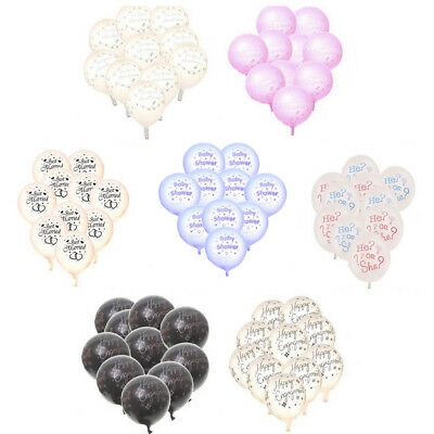 10pcs Wedding Baby Shower Happy Engagement Latex Balloons Party Decorations