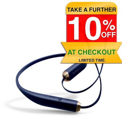 Sol Republic Shadow Wireless In-Ear Headphones Bluetooth/Rechargeable Navy/Gold