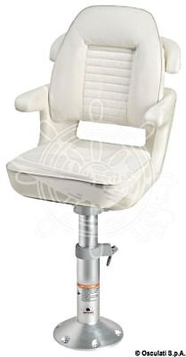 Osculati COMFORT White Polyethylene Bucket Seat Equipped with Threaded Inserts