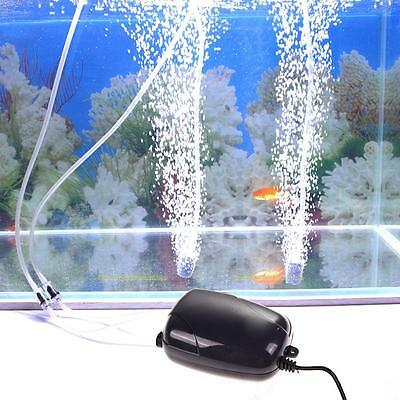Ultra Silencieux Pompe à Air Oxygène Hydroponique Aquarium Fish Tank Poisson