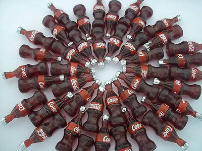 50 Pcs Dollhouse Miniatures Kitchen Food Home Art Supply 1:12 Coca Cola Bottles