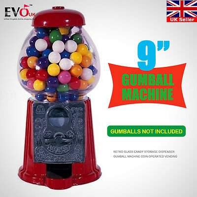 """9"""" Coin-Operated Candy Gumball Vending Machine Toy Gift Sweet Snack Dispenser"""