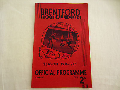 1936-37 DIV 1 BRENTFORD v CHARLTON ATHLETIC