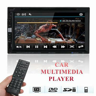 6.9'' Ecran Tactile 2 DIN HD Voiture Bluetooth Video DVD CD SD Radio USB Player