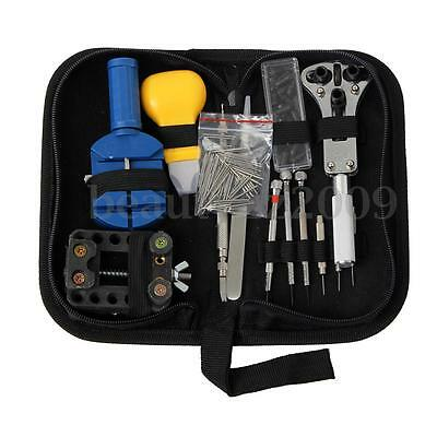 Professional Watch Back Case Opener Remover Repair Tool Spring Pin Wrench Kit
