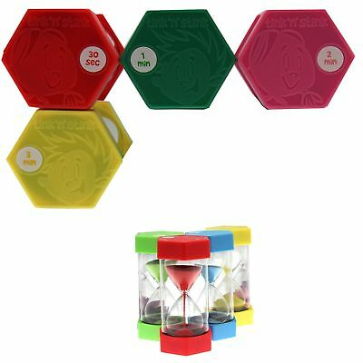 Set of 4 Tink n Stink Large Egg Hourglass Sand Timers-30s to 60-Mins Autism SEN