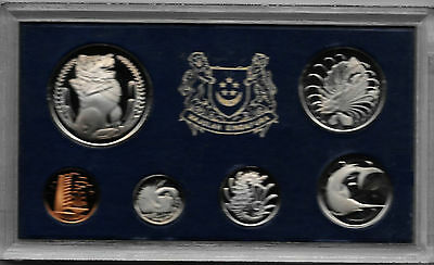 1973 SINGAPORE 6 Coin Set MINTAGE 1000 plastic case  #015 Proof set