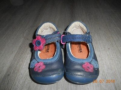 Chaussures sandales CLARKS à scratch bleu rose pointure taille maat grootte 19