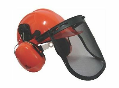 Chainsaw Safety Helmet With Ear Defenders & Mesh Visor