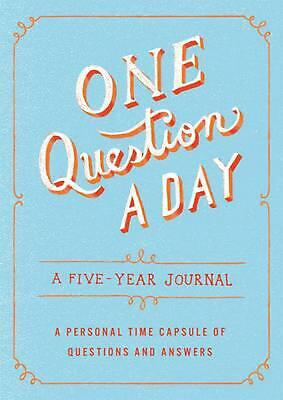 One Question a Day: A Five-Year Journal by Hannah Caner (English) Hardcover Book