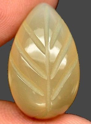 Natural Carved Pear Moonstone Gemstone Sandy Brown Colour