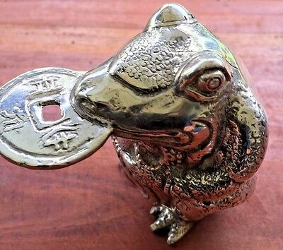 Bronze Fortune Money Prosperity Lucky Frog Statue Sculpture Figure