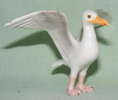 Klima Miniature Porcelain Bird Figure Seagull Wings Spread L959