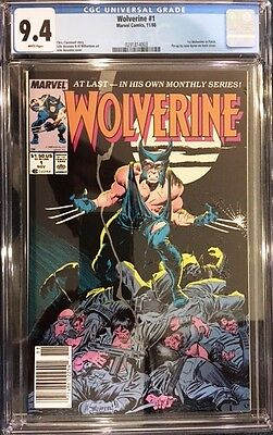 WOLVERINE #1 1988 Regular Series 1st App. Patch CGC 9.4 NM UPC Newstand variant