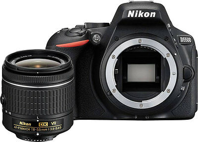 Black Friday Dea Sale Nikon D5500 Dslr Camera Black + Nikon 18-55mm Vr Af-p Lens