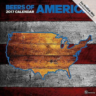 TF PUBLISHING 2017 Beer Labels of America Monthly Wall Calendar - Booze Brew Ale