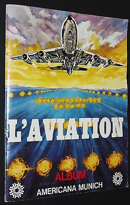 Album Americana Munich 1975 L'aviation Incomplet Manque 53 Sur 311 Tbe Panini