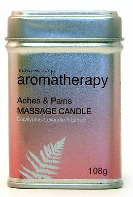 Natures Way Aromatherapy Massage Candle For ACHES and PAINS 108g NWA1000