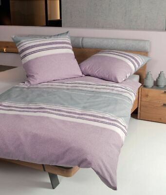 janine biber bettw sche 2 teilig 155 x 220 cm davos mauve. Black Bedroom Furniture Sets. Home Design Ideas