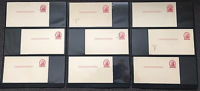#ux33 Mostly Mint Postal Cards (63) Diff States 1¢ Ovpt W/ Varieties Pahv532