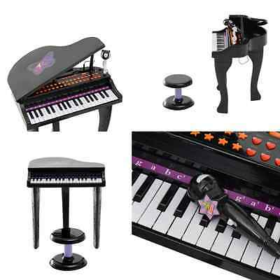 Musical Toy Piano Stool Microphone Electronic Play Kids Children Instrument Gift