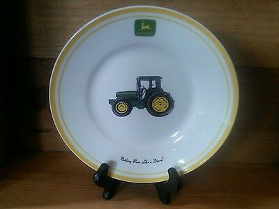 """NOTHING RUNS LIKE A DEERE"" Dinnerware, Gibson 9"" Salad Plate"