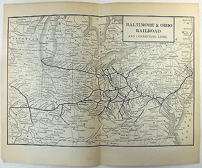 Original 1902 Map of The Baltimore & Ohio Railroad