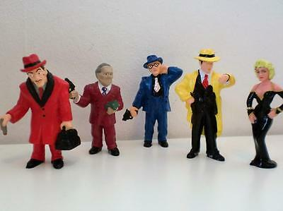 Rare Vintage Disney Dick Tracy Madonna PVC Toy Figures Cake Toppers x 6 1990s