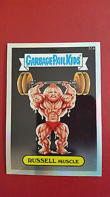 Gpk Garbage Pail Kids Chrome 2 Refractor #51A Russell Muscle