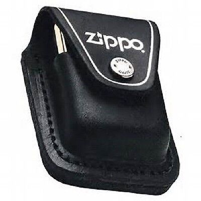 Zippo Black Leather Lighter Pouch With Clip, New In Box