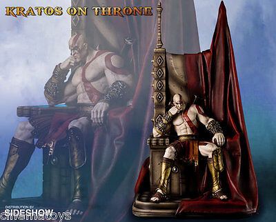 Kratos on Ares Throne God of War Statue by Gaming Heads Sideshow Limited Edition