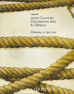 Christie's 20th C. Decorative Art & Design Longon Auction Catalog 2000