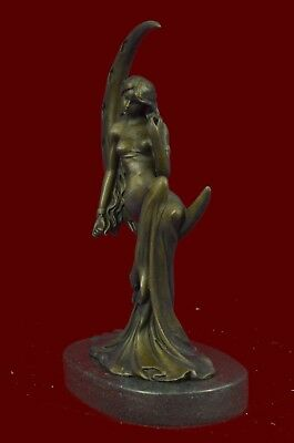 European Pure Bronze fairy maiden Change Lady Goddess of the moon Statue Gift