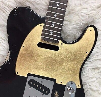 Fender Telecaster Custom shop pickguard GOLD leaf battipenna oro made in Italy