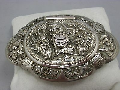 antique chinese export silver pillbox