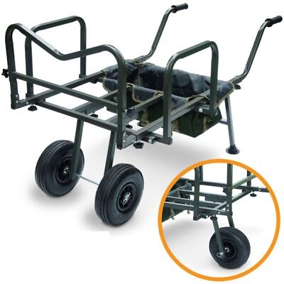 Fishing Barrow Carp Porter with Storage Bag  Trolley For all Tackle,