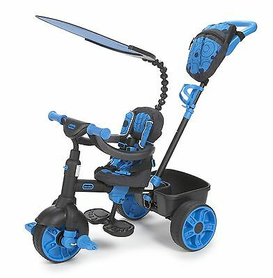 Little Tikes 4-in-1 Deluxe Edition Trike Neon Blue