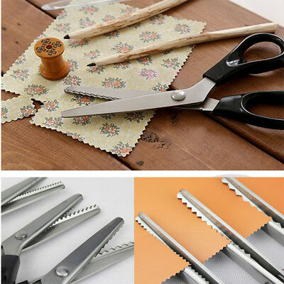 Stainless Zig Zag Pinking Sewing Cut Dressmaking Tailor Shears Scissor 3-5mm