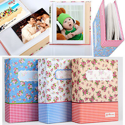 "4R 6"" 100-Pocket Picture Album Case Photo Storage Hold Baby Wedding Family Memo"