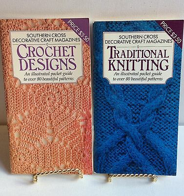 Crocheting & Knitting Guide Book How To Stitches Patterns  Instructions 2 Books