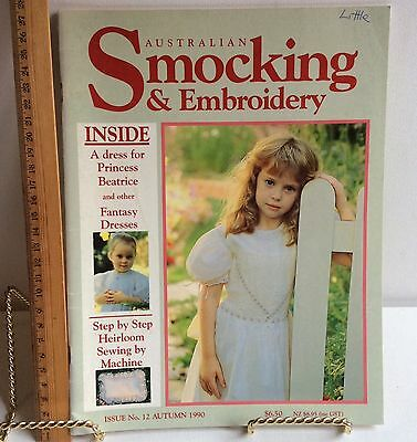 Australian Smocking & Embroidery Issue 12 1990 Magazine  Instructions Patterns